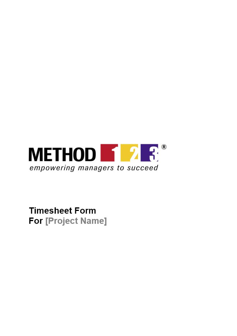 timesheet form